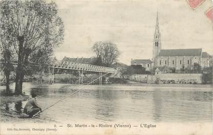 """CPA FRANCE 86 """"St Martin La Rivière, L'église""""."""