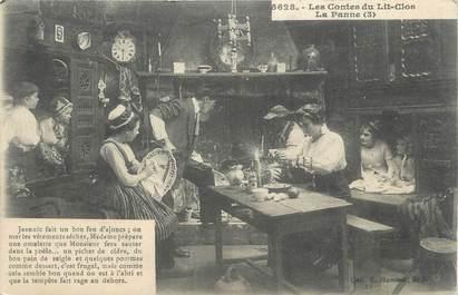 """CPA FRANCE 22 """" Les contes du lit clos, la panne"""". / FOLKLORE/ LES LITS CLOS"""