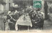 """15 Cantal CPA FRANCE 15 """" En Auvergne, Un repas de noce"""". / FOLKLORE"""
