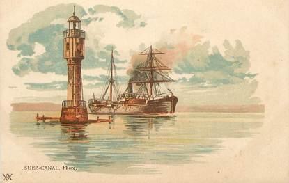 "CPA EGYPTE ""Suez, le Phare"""