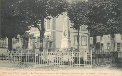 """CPA FRANCE 89 """" Bussy en Othe, Le monument aux morts""""."""