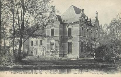 """CPA FRANCE 89 """" Brienon sur Armançon, Le château St Marc""""."""