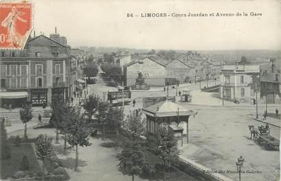 """CPA FRANCE 87 """" Limoges, Cours Jourdan et Avenue de la Gare""""."""