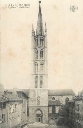 """CPA FRANCE 87 """" Limoges, L'église St Michel""""."""