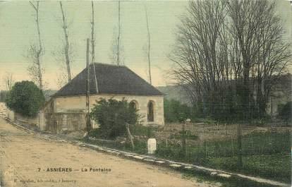 """CPA FRANCE 58 """"Asnières, La fontaine""""."""