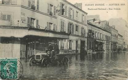 "CPA FRANCE 92 "" Clichy, Boulevard National, rue Dubois"". / INONDATIONS de 1919"