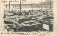 "92 Haut De Seine CPA FRANCE 92 "" Clichy, Le Port"". / PENICHE"