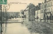 """92 Haut De Seine CPA FRANCE 92 """" Boulogne sur Seine, Avenue de la Reine"""". / INONDATIONS DE 1910"""