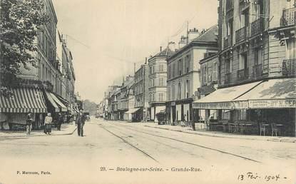 "CPA FRANCE 92 "" Boulogne sur Seine, Grande rue""."
