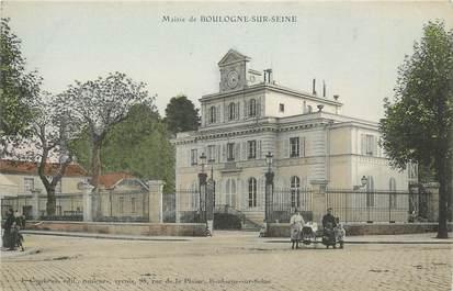 """CPA FRANCE 92 """" Boulogne sur Seine, La Mairie""""."""