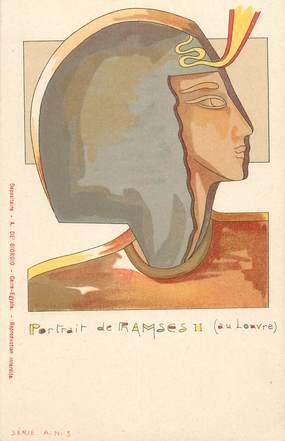 """CPA EGYPTE """"Portrait de Ramsès II"""""""