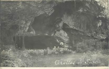 """CARTE PHOTO FRANCE 64 """"Sare, Les grottes""""."""