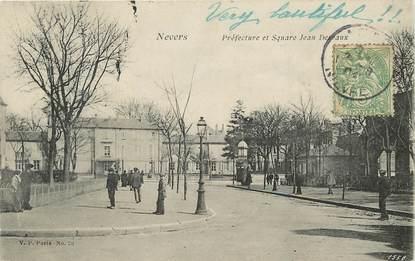 """CPA FRANCE 58 """"Nevers, Préfecture et Square Jean Desvaux"""""""