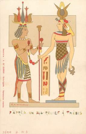 """CPA EGYPTE """"Thèbes"""""""