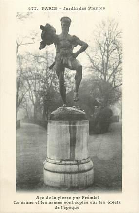 """CPA FRANCE 75 """"Paris 5ème, Statue au Jardin des Plantes""""."""