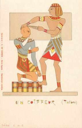 """CPA EGYPTE """"Un coiffeur"""""""
