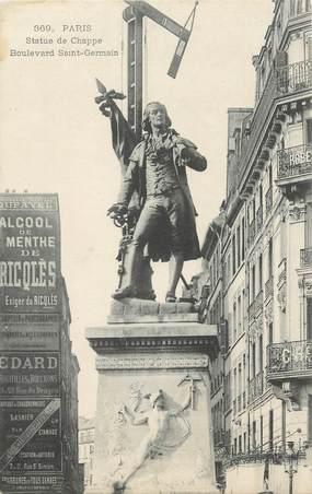 """CPA FRANCE 75 """"Paris 6ème, Statue de Chappe, Boulevard St Germain'. / INVENTEUR / TSF"""