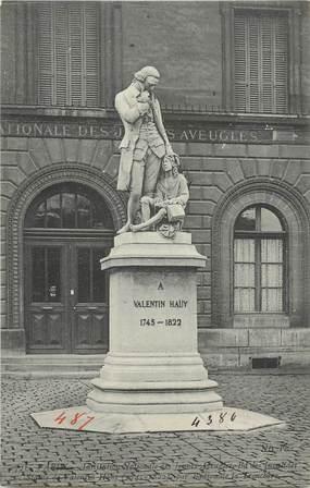 """CPA FRANCE 75 """"Paris 7ème, Monument de Valentin Hauy"""". / FONDATEUR 1ERE ECOLE POUR AVEUGLES A PARIS"""