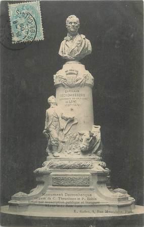 """CPA FRANCE 62 """"Lens, Monument Decronbecque""""."""