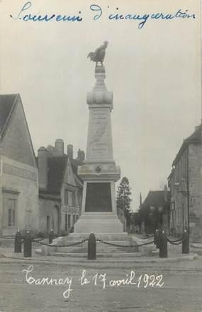 """CARTE PHOTO FRANCE 58 """" Tannay, Le monument aux morts""""."""