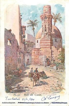 """CPA EGYPTE """"Le Caire, une rue"""""""