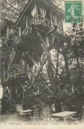 "CPA FRANCE 92 ""Robinson, Restaurant des Roches, l'arbre""."