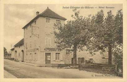"""CPA FRANCE 38 """" St Etienne de Hières, Hôtel Serverin""""."""