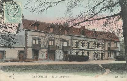 """CPA FRANCE 76 """" La Bouille, La maison brûlée""""."""