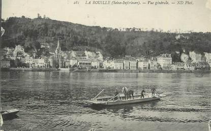 """CPA FRANCE 76 """" La Bouille, Vue générale""""."""