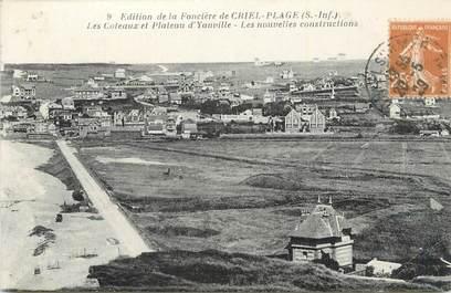 """CPA FRANCE 76 """" Les coteaux et le plateau d'Yauville, les nouvelles constructions""""."""