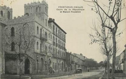 """CPA FRANCE 34 """" Frontignan, Cours de la République et maison Poulallon""""."""