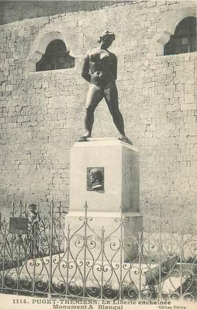 """CPA FRANCE 06 """" Puget Théniers, La liberté enchaînée, Monument A. Blanqui""""."""