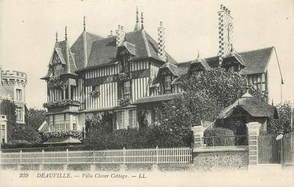 "CPA FRANCE 14 ""Deauville, Villa Clover Cottage""."