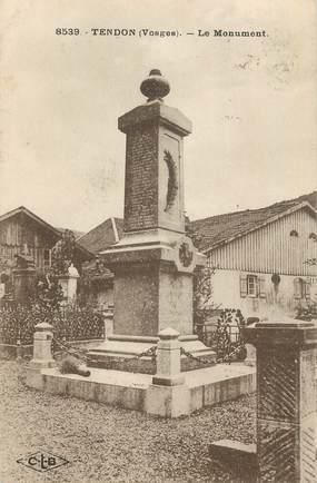 """CPA FRANCE 88 """"Tendon, Le monument aux morts""""."""