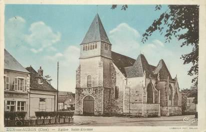 """CPA FRANCE 18 """" Dun sur Auron, Eglise St Etienne""""."""