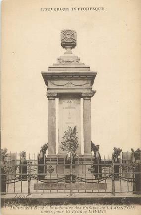 """CPA FRANCE 63 """" Lamontgie, Le monument aux morts""""."""