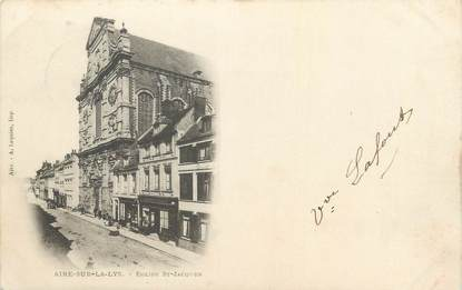 "CPA FRANCE 62 ""Air sur la Lys, Eglise St Jacques""."