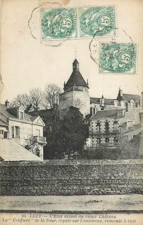"""CPA FRANCE 58 """"Luzy, Le vieux château""""."""