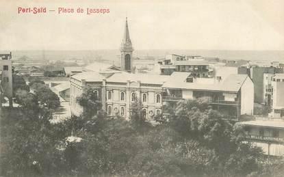 """CPA EGYPTE """"Port Saïd, Place de Lesseps"""""""
