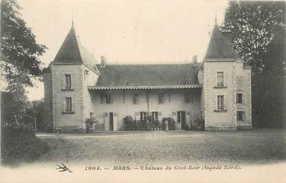 """CPA FRANCE 58 """" Mars sur Allier, Château du Crot Noir""""."""