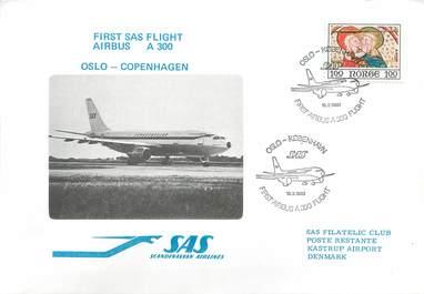 """LETTRE 1 ER VOL / SCANDINAVIE """"Oslo / Copenhague, 18 février 1980"""""""