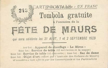 "CPA FRANCE 15 ""Fête de Maurs, 1929, Tomobola"""