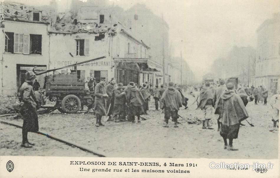 Cpa france 93 st denis explosion de 1916 une grande for Acheter maison france voisine