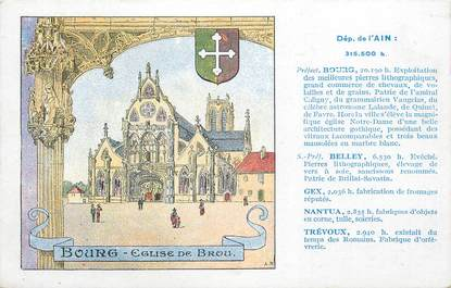 "CPA FRANCE 01 "" Bourg, Eglise de Brou""."