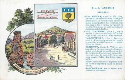 """CPA FRANCE 07 """" Privas et Annonay, Vues""""."""