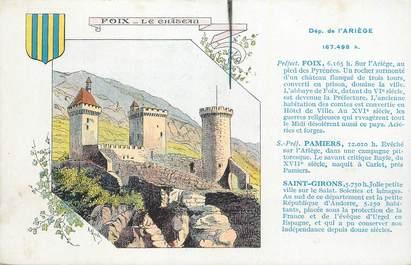 """CPA FRANCE 09 """" Foix, Le château""""."""