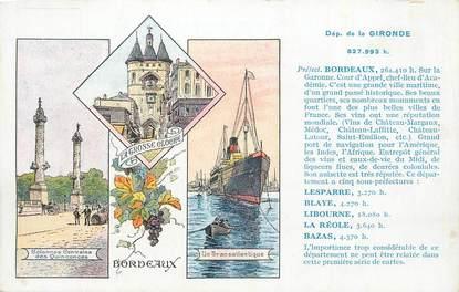 """CPA FRANCE 33 """" Bordeaux, Vues""""."""
