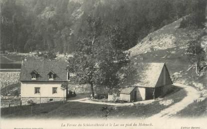 """CPA FRANCE 88 """" Schissrothreid, La ferme et le lac au pied du Hohneck""""."""