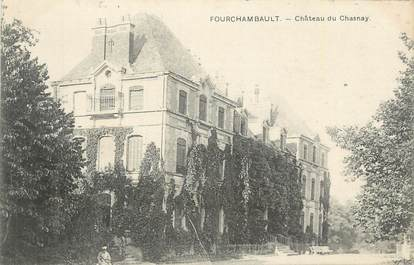 """CPA FRANCE 58 """" Fourchambault, Le château du Chasnay""""."""