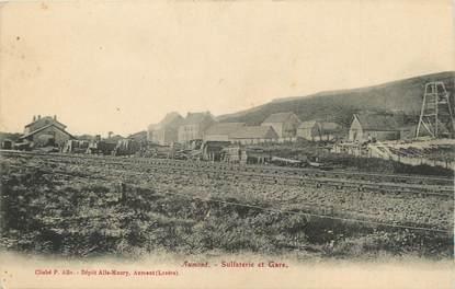 """CPA FRANCE 48 """" Aumont, La sulfaterie et la gare""""."""